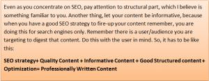 Seo user friendly content