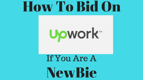 Steps of bidding on Upwork
