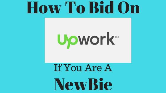 Steps of bidding on Upwork