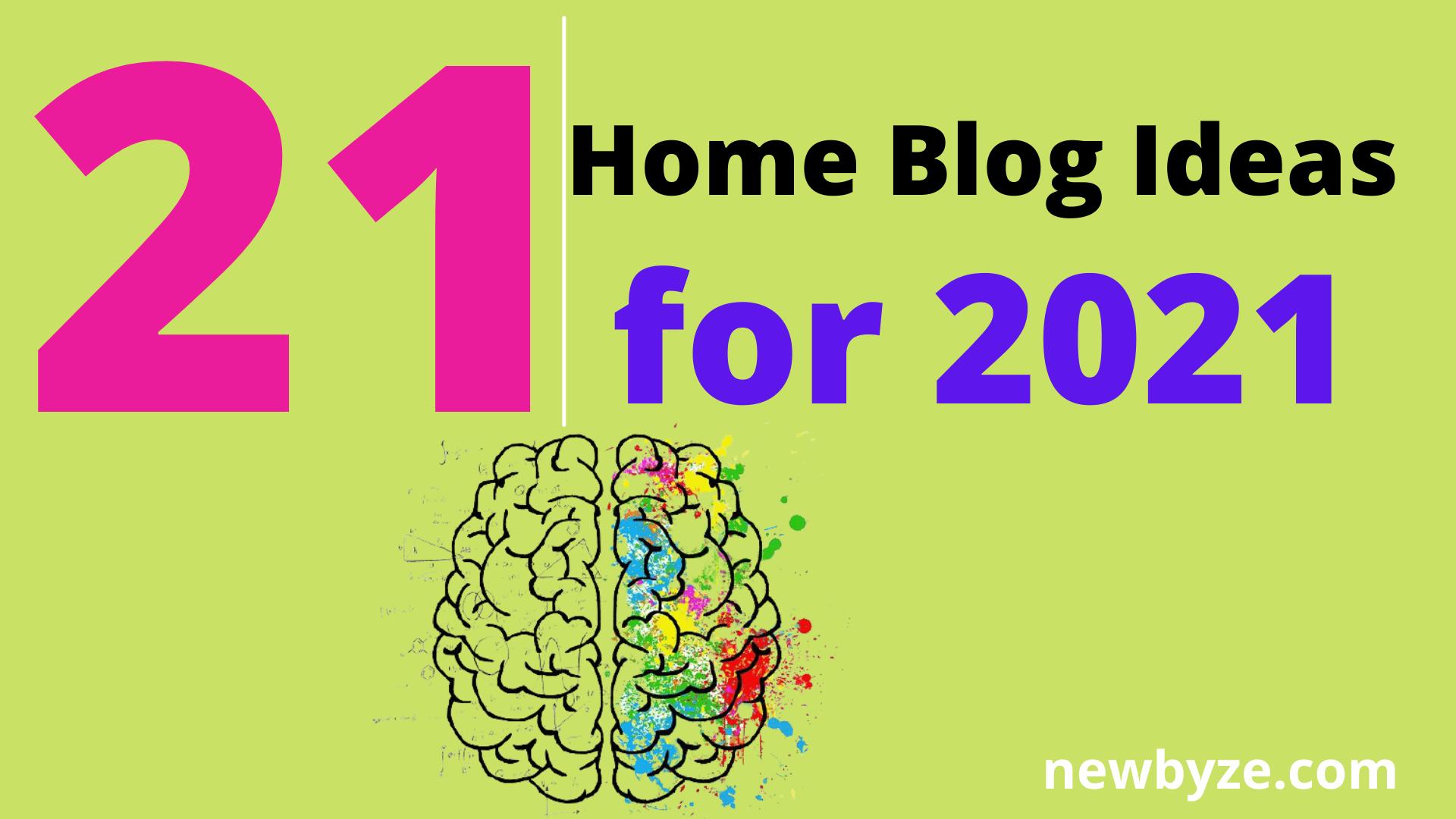 Home blog ideas
