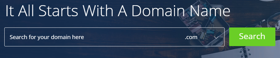 Bluehost Domain Search area