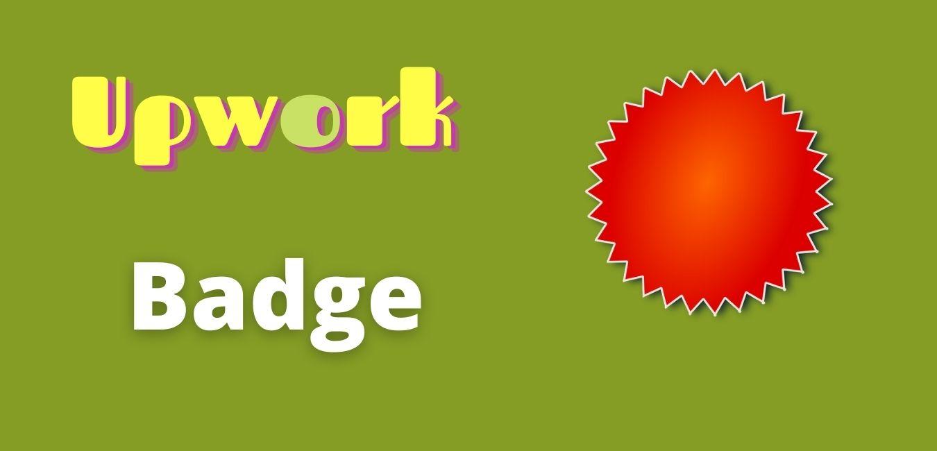Upwork badge for top rated status